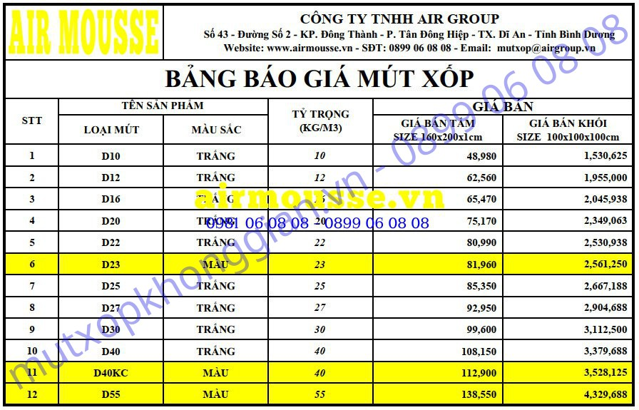 AIRMOUSEE_VN_BANG BAO GIA MUT  2019.jpg